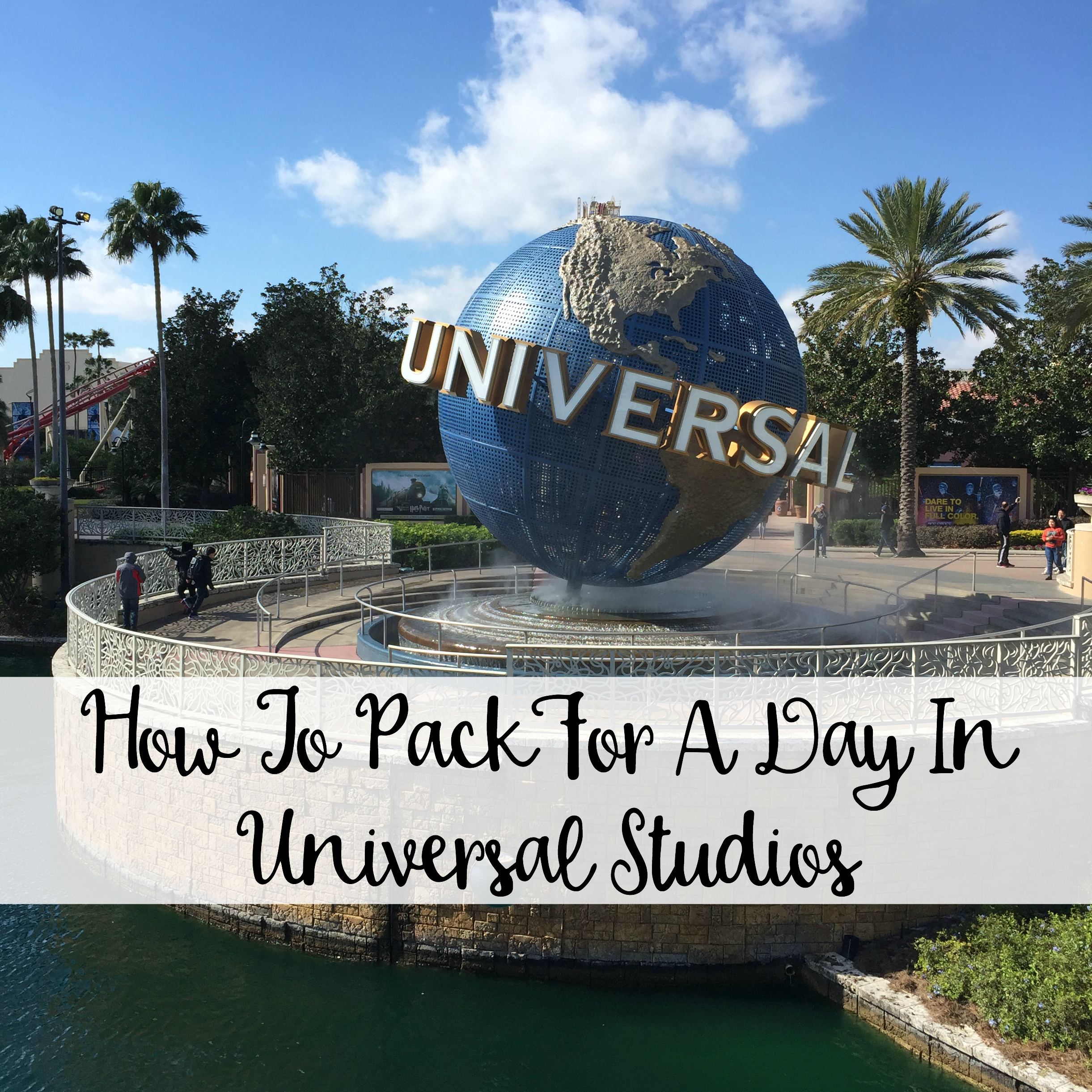 12f932c1cc7 ... your bags on most of the Disney World rides. The Wandering Weekenders-  What To Pack For A Day In Universal Studios