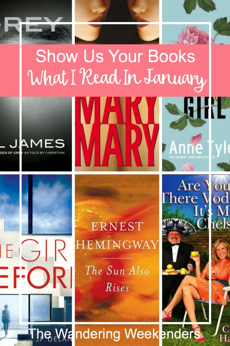 Show Us Your Books- 6 book reviews from the month of January! From The Girl Before and Vinegar Girl to Mary Mary and Grey!