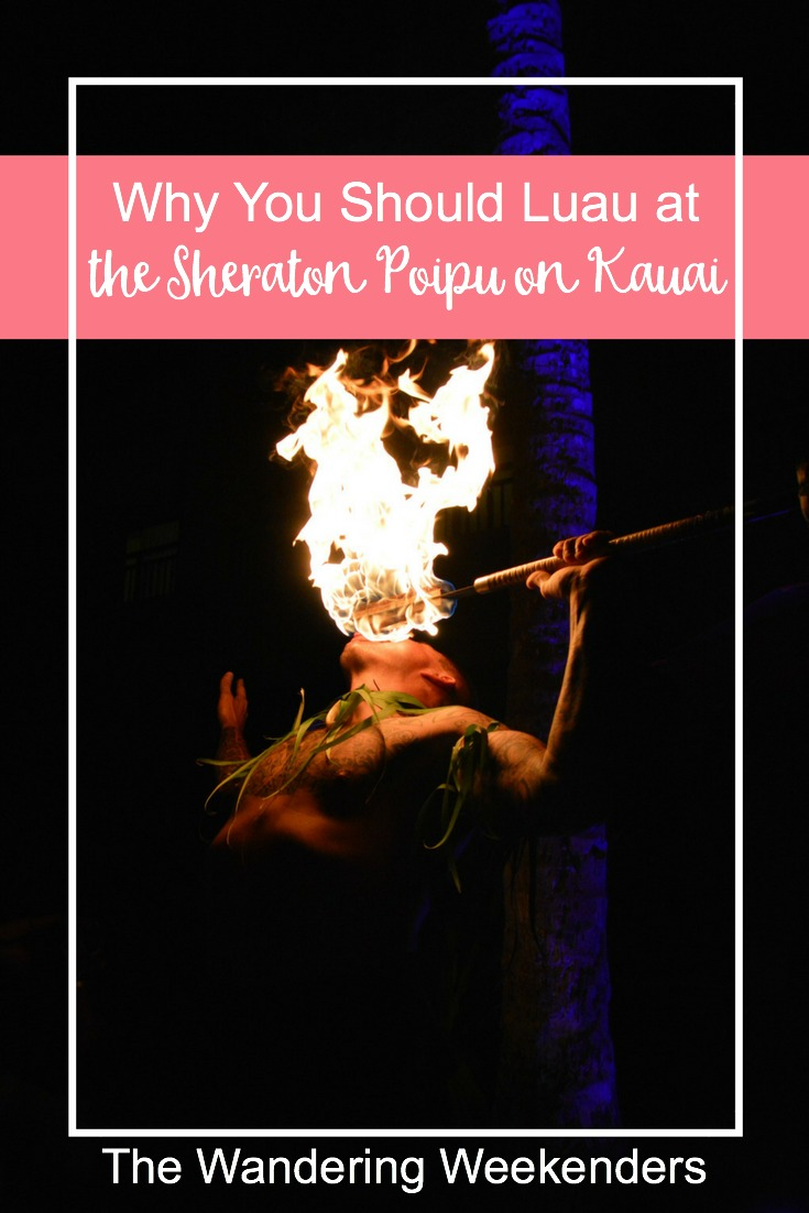 Why you should choose to luau at the Sheraton Poipu on Kauai: delicious food and mai tais, a beautiful setting right on the beach, and some amazing hula!