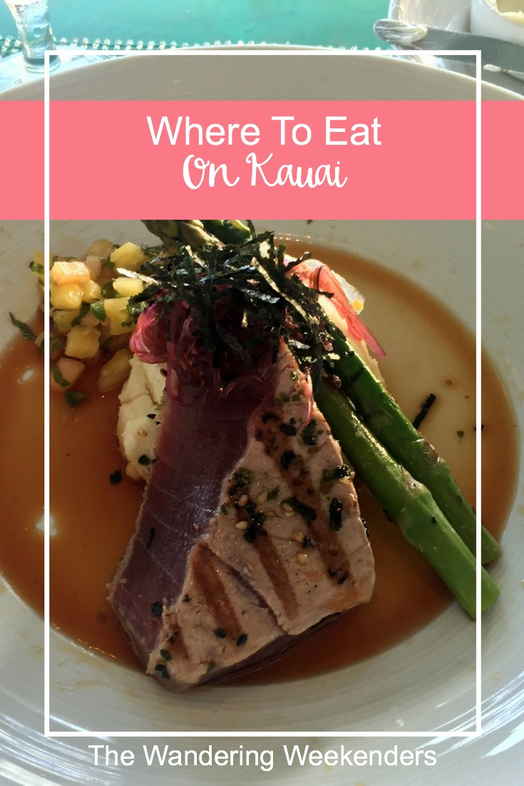 Some of the best recommendations for where to eat on Kauai! From a nice sit down restaurants with views to shaved ice, this has it all!