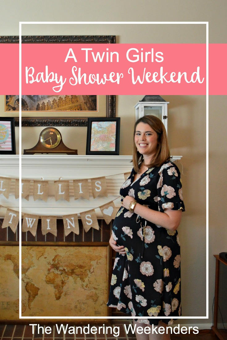 A twin girls travel themed baby shower filled with lots of maps and hot air balloons and lots of adventure! Everything was so perfect!